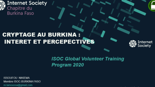 CRYPTAGE AU BURKINA : INTERNET ET PERCEPECTIVES